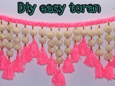 Easy woolen toran. Diy woolen toran.Door hanging craft