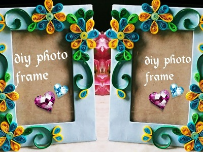 HAND MADE PHOTO FRAME. . Diy craft. handmade things.qulling craft#quilling photo frame.