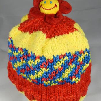 Handmade Children's Daisy Flower Hat - Free Shipping