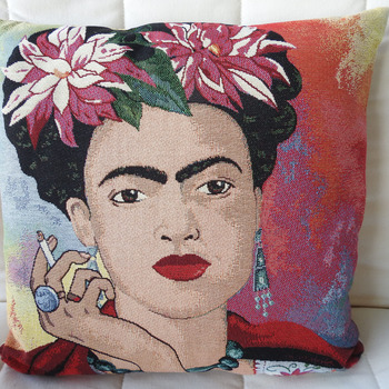 Handmade Exotic Woman Tapestry Cushion Cover - Free Shipping