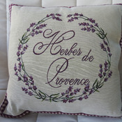 Handmade Herbes De Provence Tapestry Cushion Cover - Free Shipping
