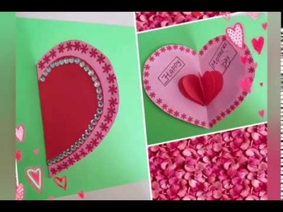 Handmade Mothers day Greeting card.Mothers Day Card.Diy.Paper Craft ideas