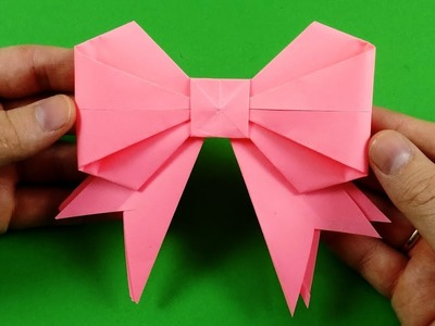 How To Make A Simple Easy Paper Bow. DIY Origami Tutorial