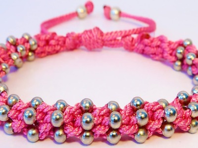 How to make bracelets with string and beads DIY BRACELET RIO KUMIHIMO DISK BRAIDING DESIGN PROJECT