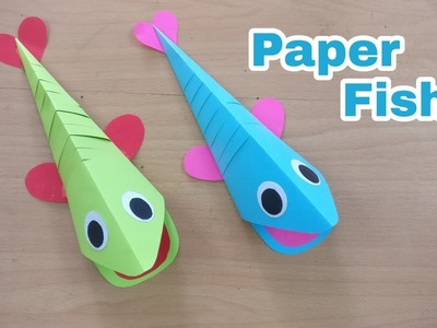 How To Make Moving Paper Fish | DIY | Kids Craft | Paper Craft