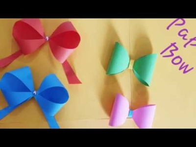How to make Paper Bow.Two different style paper bow.paper craft ideas.school supplies.back to school