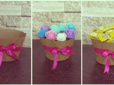 How To Make Paper Flower Basket | DIY | Paper craft | paper Pot