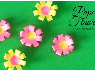 How To Make Paper Flowers | Easy Paper Crafts | Kids Craft Ideas