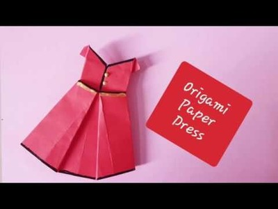How to make paper dress.origami.craft for kids.school project.back to school