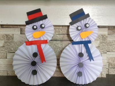 How To Make Paper Snowman | DIY | Paper Craft | Kids Craft