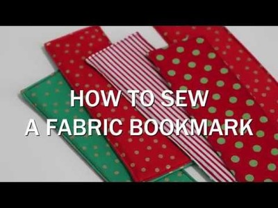 How to Sew a Fabric Bookmark