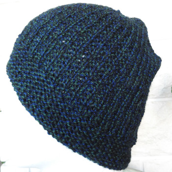 Knitted Men's Beanie Style Black Watch Winter Hat - Free Shipping