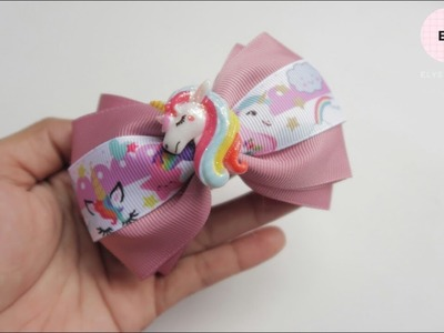 Little Pony Printed Ribbon Bow Tutorial | DIY by Elysia Handmade