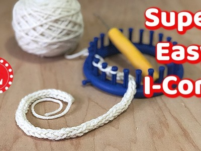LOOK KNIT  I Cord Super Easy on any Knitting Loom with 3 Pegs | Loomahat