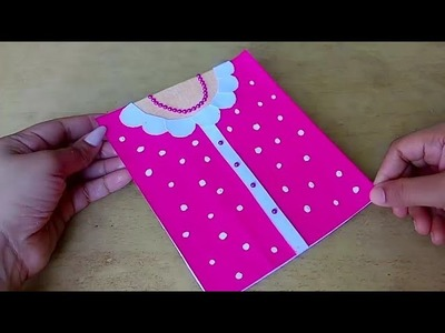 Mother's day card.malayalam craft video.easy diy card.dress card