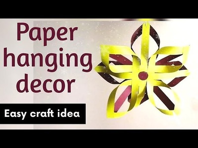 Paper hanging decor || Easy paper craft idea || Summer craft || Party decor|| Art & Essentials