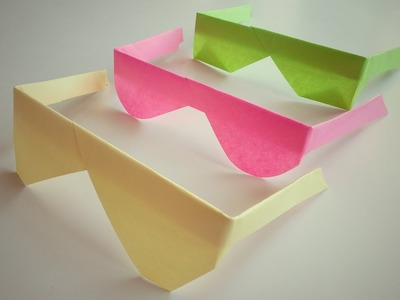 Paper Sunglasses | Origami Cooling Glasses | How To Make Traditional Origami Sunglasses