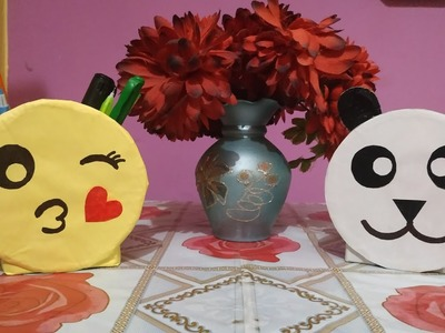 ||Pen holder ????||emoji style paper craft||                         #penholder #papercraft