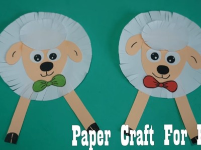 Sheep paper Crafts for kids with paper |  paper craft art,Preschool crafts