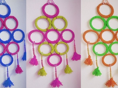 Wall Hanging Best Out of Waste Woolen Craft Ideas At Home Decor Ideas!! Door. room decor Ideas.