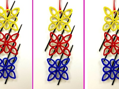 Wall hanging craft idea with Newspaper || Newspaper craft || diy room decor idea