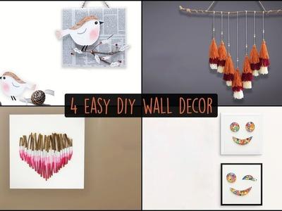 4 Easy DIY Wall Decor |  Wall Hanging Ideas
