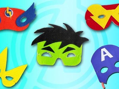 5 Super Hero Masks for Kids | Best DIY Video | 1 Minute Crafts