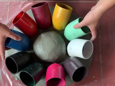 AMAZING CREATIVE CEMENT IDEAS - DIY Gifts for Wife Happy - BEAUTIFUL and EASY - DIY Flower Pots