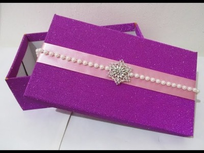 DIY : #241 Beautiful Gift Box | Made From Shoe Box ❤