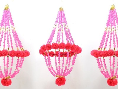 DIY CEILING HANGING JHUMAR from PEARLS for HOME DECORATION