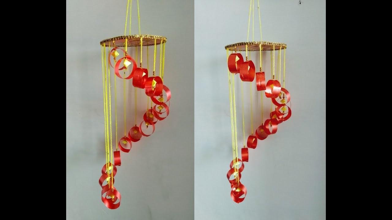 DIY HOME.ROOM DECOR || MAKE BEAUTIFUL JHUMAR USE PLASTIC RIBBON