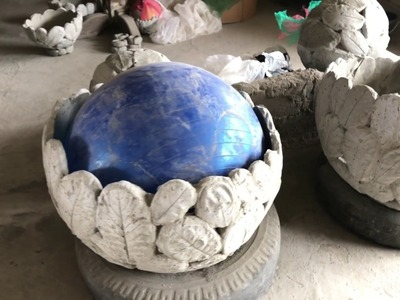 DIY: How to Make Concrete Leaf Orbs, Round Bonsai Planters, Candle Holders