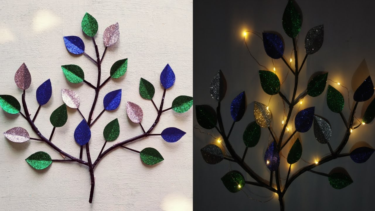 DIY wall decorate with waste material. easy n simple wall decor