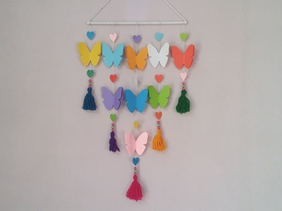 DIY: Wall Hanging Idea!! How to Make Beautiful Butterfly Hanging for Room Decoration!! Door Hanging!