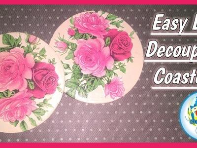 Easy DIY Decoupage Coasters | How to make Decoupage Coasters