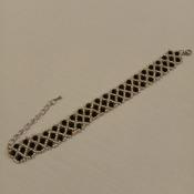 Handmade Black Silver Net Bracelet