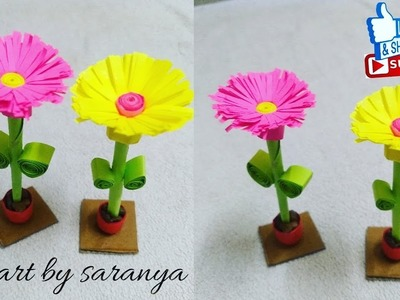 Flower Diy How To Make Quilling Flower Wall Decorate Frame