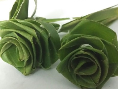 Making of Green Rose from Coconut Leaf | DIY Crafts | DIY Ideas