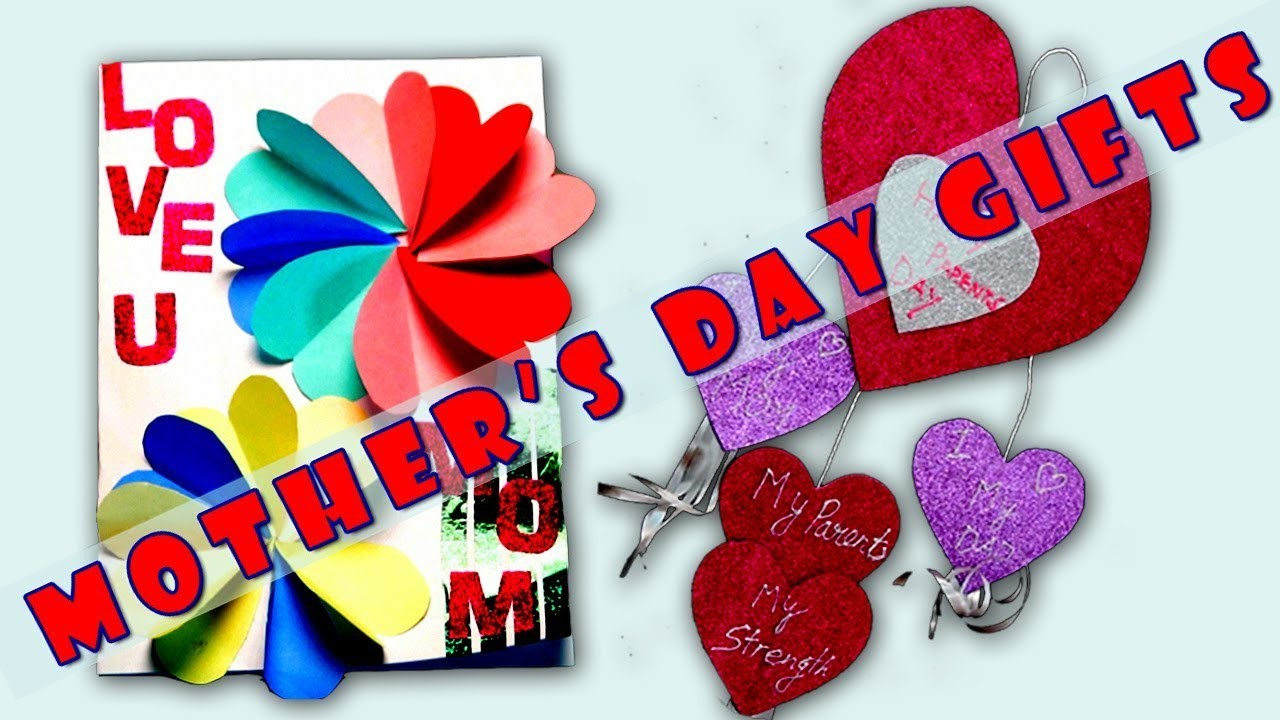 MOTHERS DAY GIFTS | Handmade Easy Beautiful | DIY Greeting Card & Wall Hanging