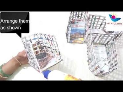Multipurpose basket | Newspaper Basket | DIY Ideas | Best out of waste