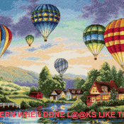 CRAFTS Balloon Glow Cross Stitch Pattern***LOOK***