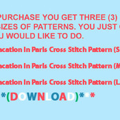 CRAFTS Vacation in Paris Cross Sticth Pattern***LOOK***