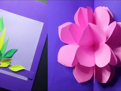 AMAZING MOTHER'S DAY POP UP FLOWER CARD EASY PAPER CRAFTS