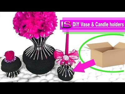 Beautiful DIY Vase and Candle Holder Set