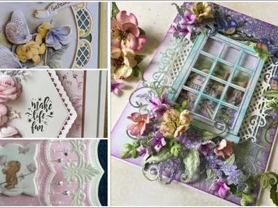 Beautiful  handmade greeting cards ideas. DIY happy birthday card design ideas.