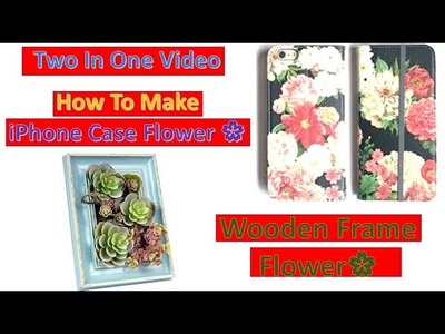 Best DIY Clip Collections For iPhone Case And Wooden Frame Flower Decorations|DIY Easy Phone Case
