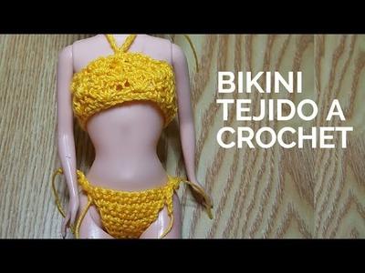 Bikini tejido al crochet #crochet #ganchillo #summer