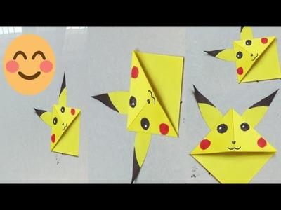 Bookmark.Easy Pikachu Bookmark.DIY Pokemon corner bookmark.Summer camp Activity for kids