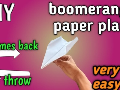 Boomerang plane    very easy diy    learn in just 4 minutes