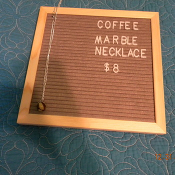 Coffee Marble Necklace